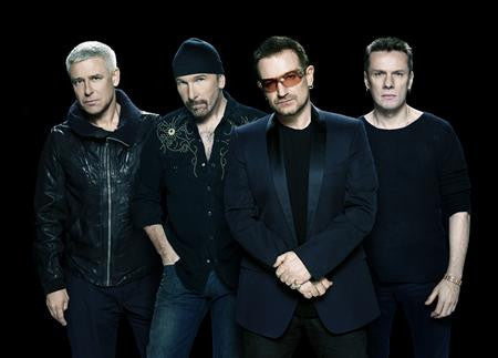 U2 Poster Black Group Pose 24x36 - Fame Collectibles