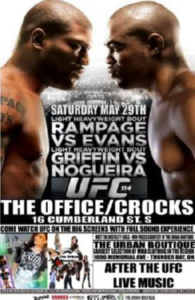 Ufc 114 Rampage Vs Evans Poster 24in x 36in - Fame Collectibles