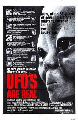 Ufos Are Real Movie Poster 24x36 - Fame Collectibles