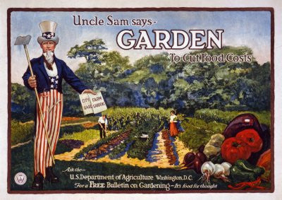 War Propaganda Poster 25x36uncle sam says garden 24x36 - Fame Collectibles