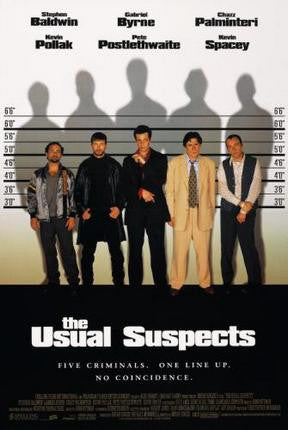Usual Suspects The Movie Poster Art 24x36 - Fame Collectibles