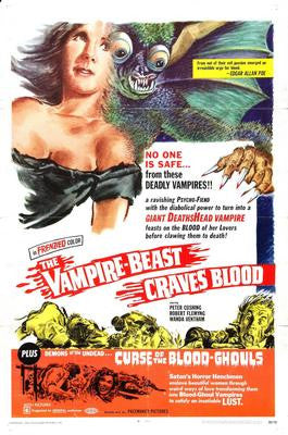 Vampire Beast Craves Blood The Movie Poster 24x36 - Fame Collectibles