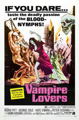 Vampire Lovers The Movie Poster 24x36 - Fame Collectibles