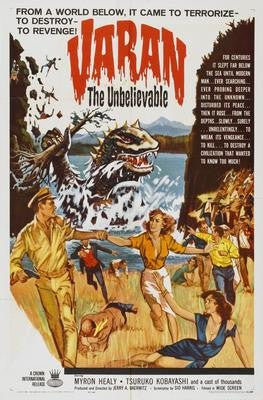 Varan The Unbelievable Movie Poster 24x36 - Fame Collectibles
