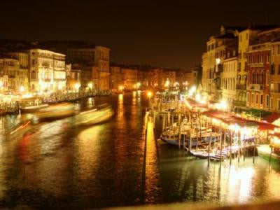 Venice At Night Poster Photography Skyline 24inx36in - Fame Collectibles
