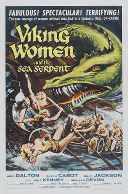 Viking Women And The Sea Serpent Movie Poster 24x36 - Fame Collectibles
