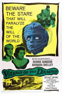 Village Of The Damned Movie Poster 24x36 - Fame Collectibles