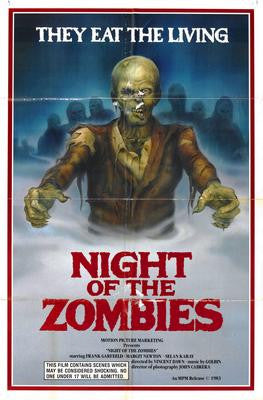 Night Of The Zombies Movie Poster 24x36 - Fame Collectibles