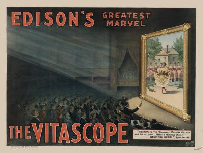 Vitascope Poster 27x36 edison's greatest marvel 24x36 - Fame Collectibles