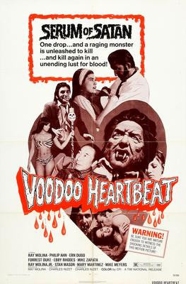Voodoo Heartbeat Movie Poster 24x36 - Fame Collectibles
