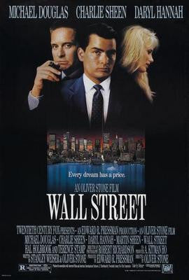 Wall Street Movie Poster 24x36 - Fame Collectibles