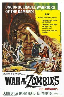 War Of The Zombies Movie Poster 24x36 - Fame Collectibles