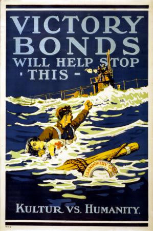 War Propaganda Art Poster Victory Bonds 24x36 - Fame Collectibles