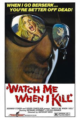 Watch Me When I Kill Movie Poster 24x36 - Fame Collectibles