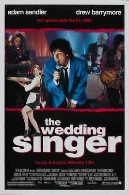 Wedding Singer The Adam Sandler Movie Poster 24x36 - Fame Collectibles