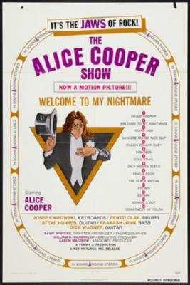 Welcome To My Nightmare Poster Alice Cooper 24inx36in - Fame Collectibles