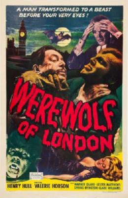 Werewolf Of London Movie Poster 24in x 36in - Fame Collectibles