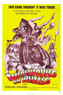 Werewolves On Wheels Movie Poster 24x36 - Fame Collectibles