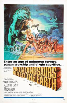 When Dinosaurs Ruled The Earth Movie Poster 24x36 - Fame Collectibles