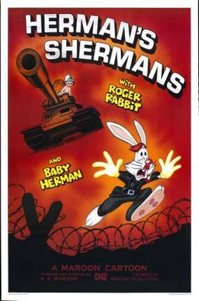 Who framed Roger Rabbit Movie Poster Hermans Shermans 24x36 - Fame Collectibles