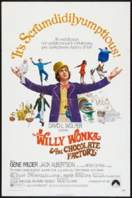 Willy Wonka And The Chocolate Factory Movie Poster 24in x 36in - Fame Collectibles