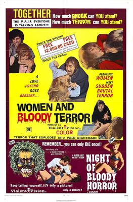Women And Bloody Terror Movie Poster 24x36 - Fame Collectibles