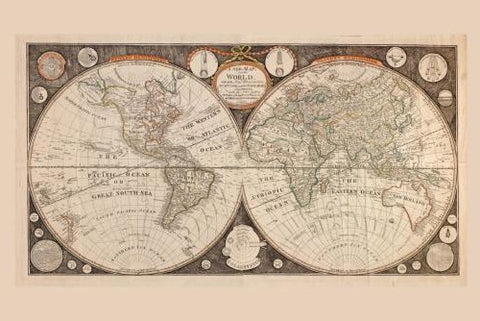 World Map 1799 Poster 24in x 36in - Fame Collectibles