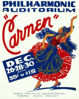 Wpa Carmen Poster 24x36 - Fame Collectibles