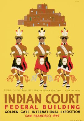 Wpa Indian Court Poster 24x36 - Fame Collectibles