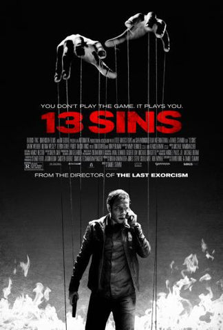 13 Sins Movie poster 24inx36in Poster 24x36 - Fame Collectibles