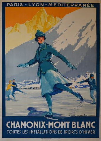 1St Winter Olympics Poster 24in x36in - Fame Collectibles