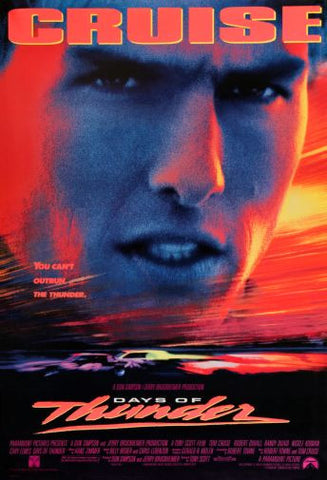 Days Of Thunder Movie Poster 24in x36in - Fame Collectibles
