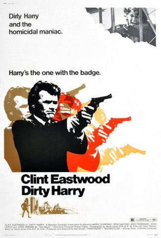 Dirty Harry Movie Poster 24inx36in Poster 24x36 - Fame Collectibles