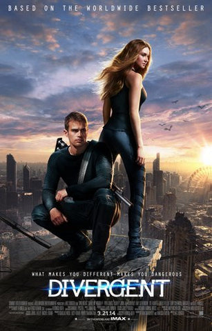 Divergent Movie Poster 24Inx36In Poster 24x36 - Fame Collectibles