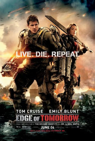 Edge Of Tomorrow Movie poster 24inx36in Poster 24x36 - Fame Collectibles
