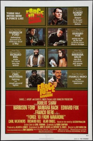 Force 10 From Navarone Movie Poster 24inx36in (61cm x 91cm) - Fame Collectibles