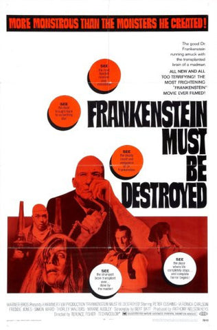 Frankenstein Must Be Destroyed Movie Poster Puzzle Fun-Size 120 pcs - Fame Collectibles