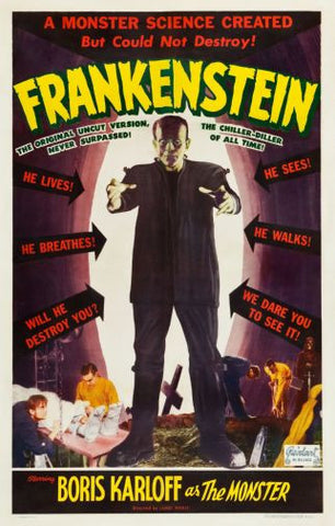 Frankenstein Movie Poster Puzzle Fun-Size 120 pcs - Fame Collectibles