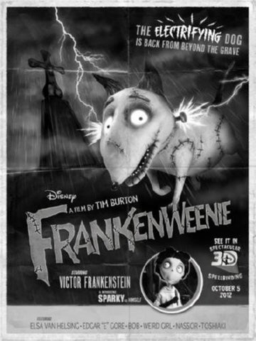 Frankenweenie Movie Poster 24inx36in (61cm x 91cm) - Fame Collectibles