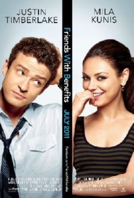 Friends With Benefits Poster 24inx36in Kunis Timberlake 24x36 - Fame Collectibles