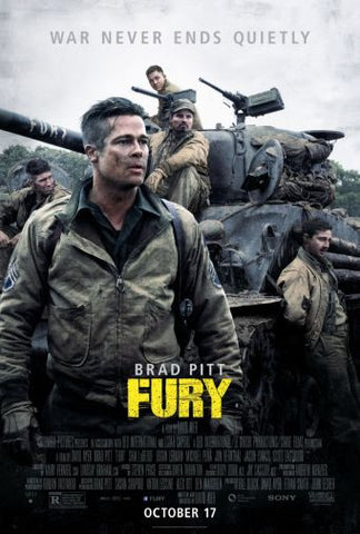 Fury Movie poster 24inx36in Poster 24x36 - Fame Collectibles