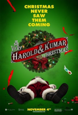 A Very Harold And Kumar 3D Christmas Poster 24inx36in 61cm x 91cm 24x36 - Fame Collectibles