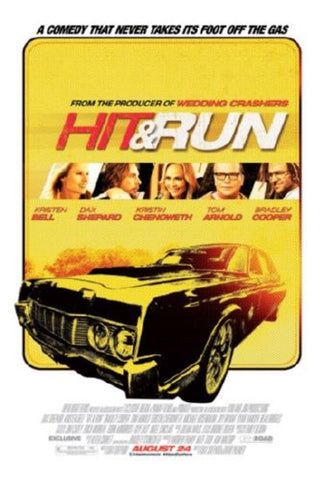 Hit And Run Movie Poster 24inx36in (61cm x 91cm) - Fame Collectibles