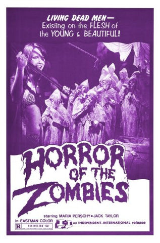 Horror Of Zombies Movie Poster 24inx36in Poster 24x36 - Fame Collectibles