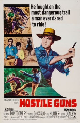 Hostile Guns Movie poster 24inx36in Poster 24x36 - Fame Collectibles