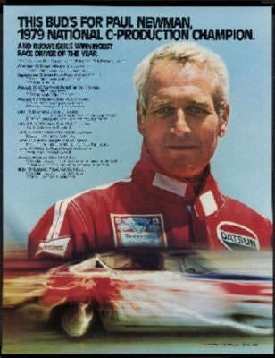Paul Newman Racing Poster 24inx36in - Fame Collectibles