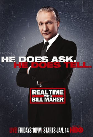 Real Time With Bill Maher Poster 24x36 - Fame Collectibles