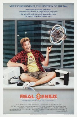 Real Genius Movie Poster 24inx36in (61cm x 91cm) - Fame Collectibles
