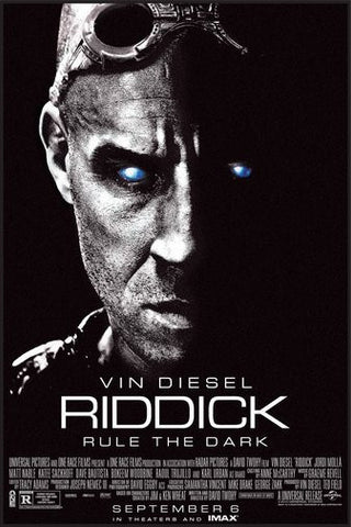 Riddick Movie Poster 24Inx36In Poster 24x36 - Fame Collectibles