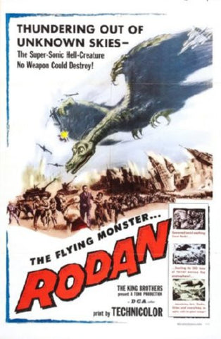 Rodan Movie Poster 24inx36in (61cm x 91cm) - Fame Collectibles